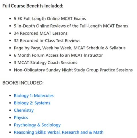 Full Course Benefits