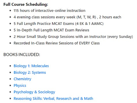 Full Course Sched