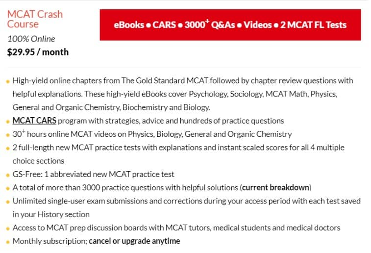 MCAT Crash Course