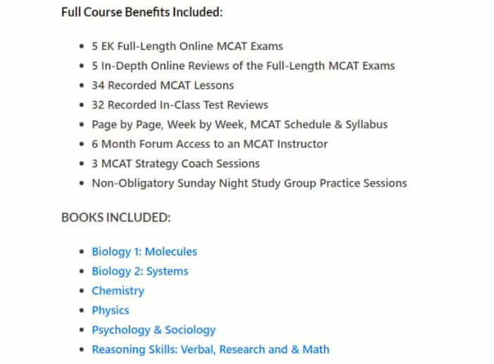 Examkrackers Full Course Benefits