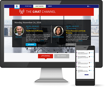 GMAT Channel Site